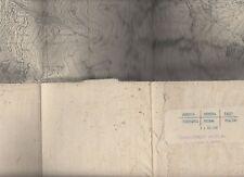 cartina alpina -gran sassiere -1:25.000 - in tessuto telato -