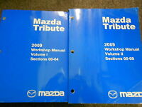 2009 Mazda Tribute Service Repair Shop Workshop Manual Set OEM Factory 2009
