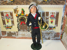 Byers Choice 1997 Magnificent Victorian Man with Watch Garland and Fruit Basket