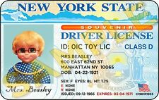 Mrs. Beasley Laminated Souvenir Driver License (Star Of Family Affair Tv Show)