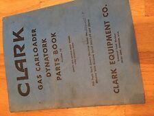 Clark Forklift Carloader Parts Catalog Book Yardlift Dynatork