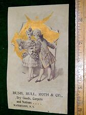 1870s-80s Lovely Colonial Well To Do Couple, Bush, Bull, Roth & Co Card F19