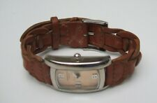Vintage Identity London Quartz Watch with Brown Woven Leather Scrap
