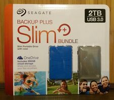 Seagate Backup 2TB External Hard Drive Portable Slim Windows Mac w/Case USB 3.0