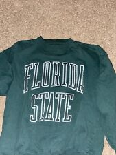 Vintage Florida State University Arch Lettering Green Sweatshirt Size Medium