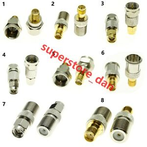 1Pcs F type To SMA Male RPSMA Female RF Connector Adapter Test Converter Kit Set