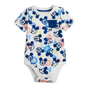 Disney Mickey Mouse Baby Boys' Bodysuit Baby Creeper Dress Up Outfit 12M 24M