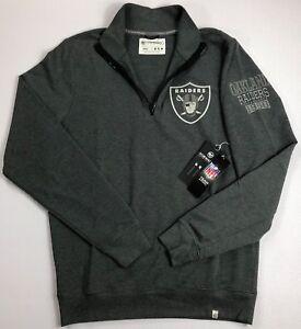 Men's NFL Football Oakland Raiders 1/4 Zip Heavyweight Shirt Size S NEW BJ