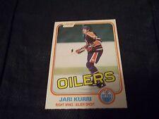 1981-82 OPC O-Pee-Chee #107 Jari Kurri Rookie Oilers - nrmt