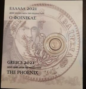 "GREECE 1821-2021 5 EURO BIMETALLIC COIN ""THE PHOENIX OF 1828"""