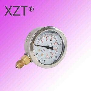 63mm 10BAR 16BAR 25BAR 40BAR 60BAR Hydraulic Pressure Gauge BSP1/4 Base Entry