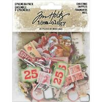 Tim Holtz ~ EPHEMERA PACK ~ Christmas Snippets ~ Idea-ology ~ Christmas 2019