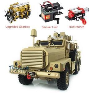 HG Upgrade P602 1/12 Cougar 6x6 MRAP RC Vehicle W/ Motor Sound Light Radio Smoke