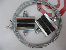 2 x PAIRS OF WEINMANN STYLE X PATTERN BRAKE BLOCKS AND INNER CABLES  ***NEW***