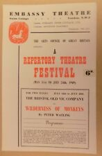 Embassy Theatre  London Repertory Festival Wilderness Of Monkeys Programme 1949