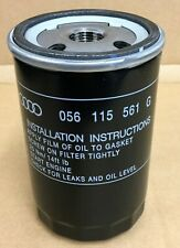 New Genuine Audi VW Golf Mk1 Mk2 Engine Oil Filter 056115561G New Genuine VW