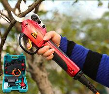 220V Rechargeable Electric Garden Pruner Cutter Shears Fruit Tree Scissors Tools