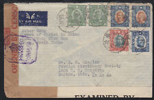 CHINA  REPUBLIC  CENSORED  COVER  FROM  SOUTH  CHINA  TO  USA        A