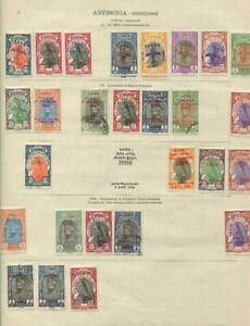 ETHIOPIA: 1925-1930 Examples - Ex-Old Time Collection - 2 Sides Page (42927)
