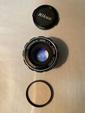 Nikon 50mm F2 Prime Lens. Mint Classic