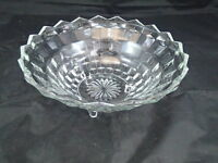 """VINTAGE FOSTORIA AMERICAN 3-TOED / FOOTED FLARED SERVING BOWL 10 1/2"""""""