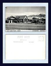 MONTANA LIVINGSTON LOG CABIN AUTO COURT & SERVICE STATION REAL PHOTO CIRCA 1950