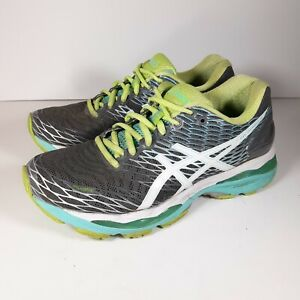 Asics - GEL-Nimbus 18 - Women's Size 7.5 D T651N(D) - Dark Gray & Light Blue