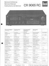 Dual Service Manual für CR 9065 RC