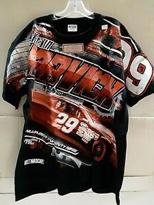 Kevin Harvick # 29 Nascar Black Total Print T-shirt,  Size MEDIUM