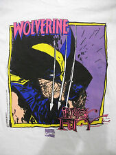 Vintage 90s Wolverine X-Men 1992 Marvel Comics T shirt; NEW NOS deadstock L