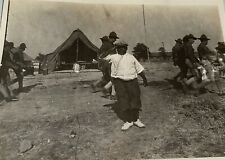 Rare Antique African American Boy Salute The Troops WWI World War Snapshot Photo