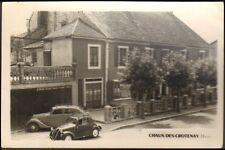 39 CHAUX-DES-CROTENAY CARTE POSTALE HOTEL DE LA POSTE  SIMCA 5 TOPOLINO 1952