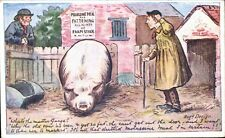 Advertising. Molassine Cattle Meal/Dog Food. Fattening Sow.