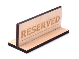Autónomo Madera Doble Cara Reservado Mesa Letrero Para Restaurantes