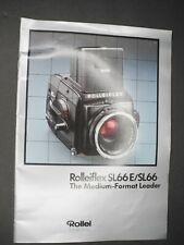 Rollei Rolleiflex SL66E / SL66 The Medium-Format Leader 1985 Camera Brochure