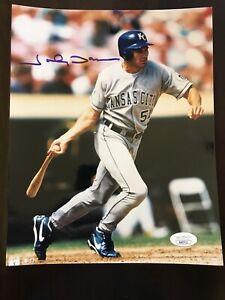 Johnny Damon Royals Autograph Signed 8x10 Photo JSA