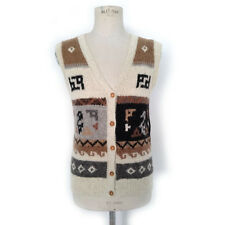 GILET CARDIGAN VINTAGE DONNA VIFALCO 100% ALPACA MADE IN PERU ART.5949