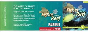 2010 Australian Coral Rabbitfish Fishes of the Reef Pad of Booklet