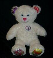 "16"" BUILD A BEAR WHITE TWINKLE TOES TEDDY BEAR STUFFED ANIMAL PLUSH TOY BABW"
