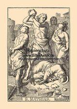 Der heilige Mathias Apostel Matthias Märtyrer St. Holzstich Sankt A4 1001