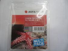AGFA PHOTO 5-SET CLI-521 C+Y+M+Bk + PGI-520bk Pixma ip 4600 3600 4700