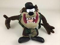 Tasmanian Devil Taz Plush Stuffed Toy Looney Tunes Camo Camouflage Vintage 90s