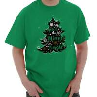 Bright Merry Christmas Shirt Santa Claus Holiday Tree Cards Classic T Shirt Tee