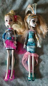 2 x Monster High Lagoona Blue Dolls Mattel