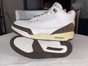 Vintage 2001 Air Jordan 3 Retro Mocha Size 10 White/Dark Mocha 136064-121