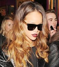 Super RETROSUPERFUTURE BLACK GOLD Sunglasses As Rihanna with Case
