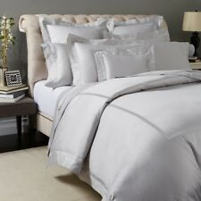 NEW MATOUK NOCTURNE QUEEN DUVET COVER SATEEN SILVER GRAY RETAIL $698+tax ITALY