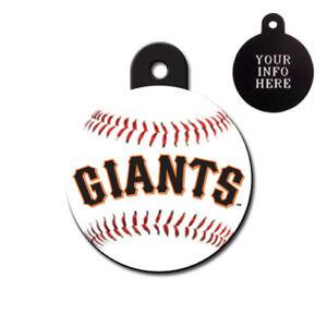 SAN FRANCISCO GIANTS MLB - CUSTOMIZED - PET TAG - CIRCLE Shape - Tag-Z Dog Tags