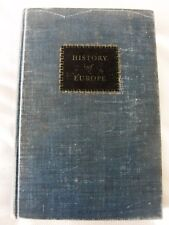 THE HISTORY OF EUROPE- by HAYES, BALDWIN, & COLE 1949 (USED TEXT BOOK)