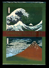 JAPAN 2016 Greetings S/S Hokusai in Presentation Folder -Gold leaf /Silver paper